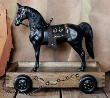 Custom Breyer Western Horse Pull Toy FS by lupagreenwolf