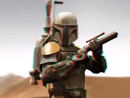 Boba Fett 3-D coonversion by MVRamsey