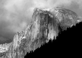 Half Dome and Rain Clouds by Geotripper