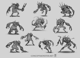 Creature Sketches by AlexRuizArt
