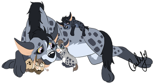 Hyena Family Adopt CLOSED by Carlene707