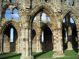 Whitby Abbey Arches by Duamuteffe