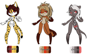 Anthro Adopts (CLOSED) by SweetestCatnip