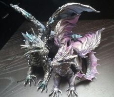 Cake topper Silver Dragons by AstridMakosla
