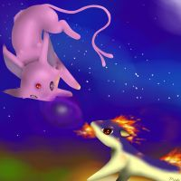 Espeon vs Quilava by Ichigo-Star