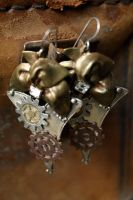 Embellished Steampunk Earrings by medievalfaery