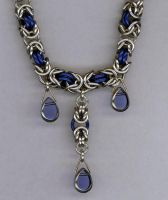 Blue Byzantine Necklace by SLiCkDesigns