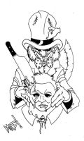 Mad Hatter VS Mike Myers by theinsanemadhatter