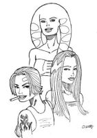Flinn's Girls Pencils by SteelhavenStudio