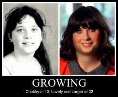 GROWING - Zooey Deschanel by MattBrewer