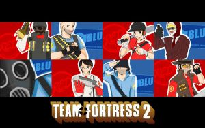 TF2: RED BLU RED BLU by anime-dragon-tamer