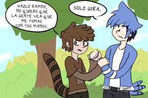 RS: Mordecai and Rigby by kasanexkagamine