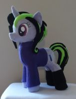 OC 'Zile' pony plush Front View by JanellesPlushies