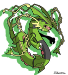 mega Rayquaza by ObsidianWolf7