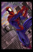 Spiderman colored by hanzozuken