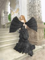 Black angel by IBARI16