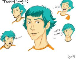 Teddy Lupin Face sketchies by BehindtheVeil