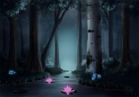 Dark Lily Forest by Orbes