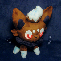 Shiny Zorua plush by drill-tail