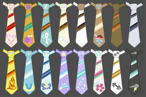 MLP Tie Set 4 Pegasi and Foals by Melody-Serenata