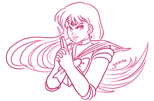 Sailor Mars by Yamino
