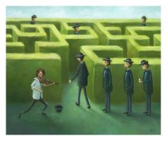 The Labyrinth- pesare by childrensillustrator