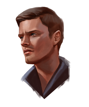 Dean Winchester portrait study by M-Whistler