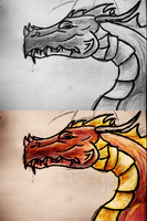 Dragon head II. by Artush