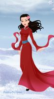 Mulan in Disney Frozen Style by Kailie2122