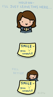 Go on - smile. by LetsSaveTheUniverse