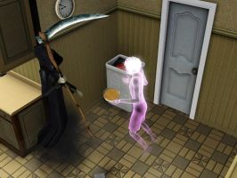 The Sims 3 - Grim Reaper And Bowl Glitch by LordVaatiXsis