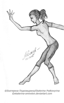 A dancer by Ekaterina-Amivolon