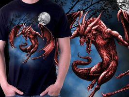 Moon Dragon T-shirt by Oblivion-design