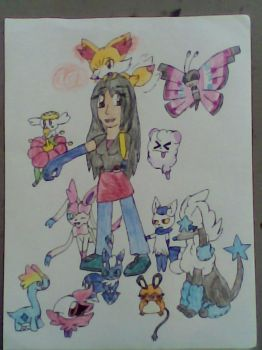 Fangz With Gen  6 Pokemon (OLD) by LadyFangz