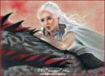 Fire Dragon Daenerys  and Drogon by Katerina-Art