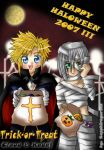 Happy Halloween- Cloud n Kadaj by sapphireyuriko