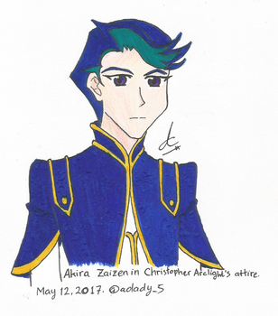 [Zexal x VRAINS] Akira with Chris' Attire by AoLady