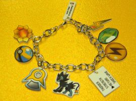 POKEMON CUSTOM Electric Element charm bracelet by kouweechi
