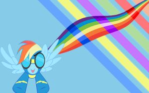 Minimalism Rainbow Dash Wallpaper by Tom-The-Rock