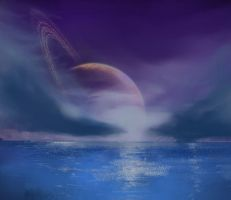Upon the Ocean Moon by philippeL