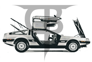 Delorean Vector by DesignsByTopher