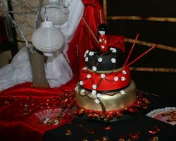 Oriental Design Cake by TootyPups