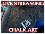 Live Streaming Chalk art by charfade