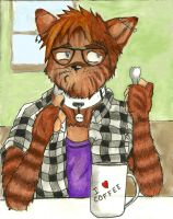 The Hipster Cat has a Spork by TravisKeaton