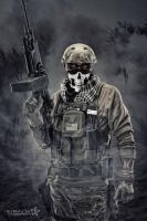 Skull Face Infidel by straight8photo
