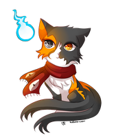 -- Chibi cat commission for xBlackKalicox -- by Kurama-chan