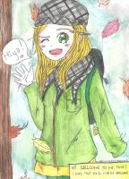 Playing with watercolor crayons (Autumn ID) Q3Q by LoveEmerald