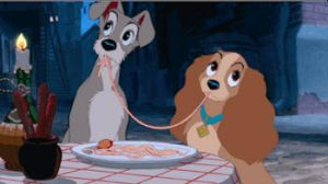 Lady x Tramp Kissing Gif by Angelicsweetheart
