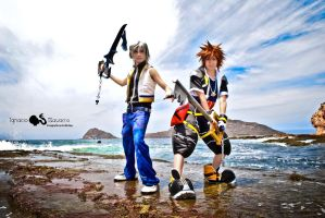 sora and riku by mina-K-ta