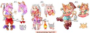ADOPTABLE SET 02 -2/3 OPEN- by Naussi